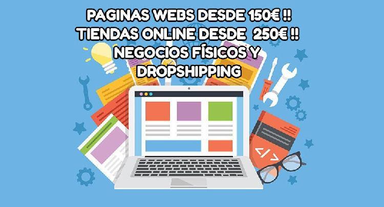 Páginas webs y tiendas online al mejor precio