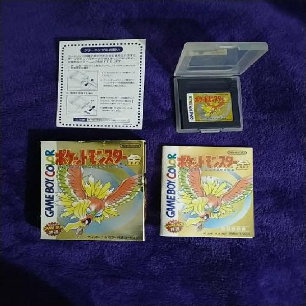 Pokemon oro game boy color jap