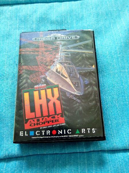 Sega megadrive juego lhx attack chopper completo
