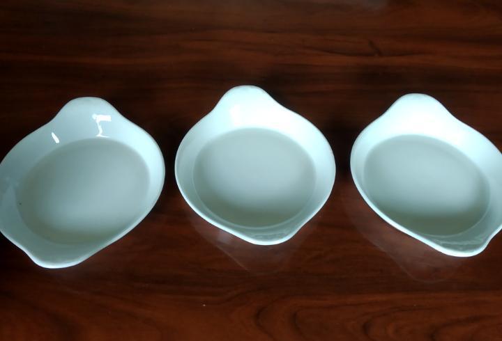 Tres bandejitas cerámica narca feñix.