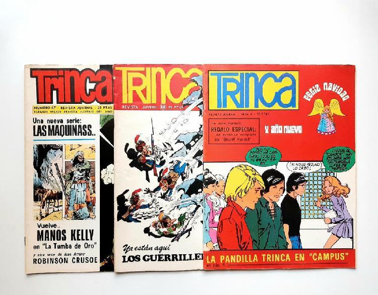 Trinca revista juvenil. 3 números. años 70