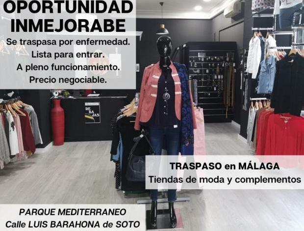 Traspaso tienda de moda en málaga