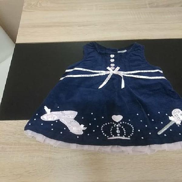 Vestido princesa bebé 12meses