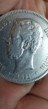 2 amadeo i plata 5 pesetas