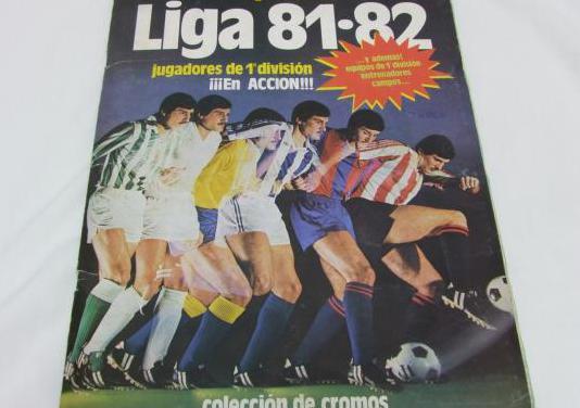 Album cromos incompleto liga 81-82