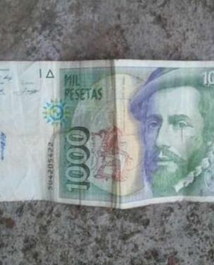 Billete de mil pesetas hernán cortés