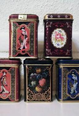 Lote 5 cajas de té antiguas