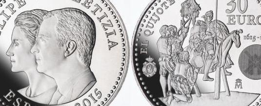 Moneda 30euros plata felipe vi y leticia 2015