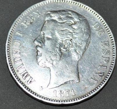 Moneda amadeo de saboya 5pts.
