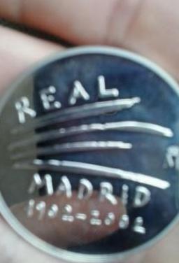 Moneda centenario real madrid
