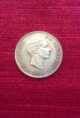 Moneda de oro 1880