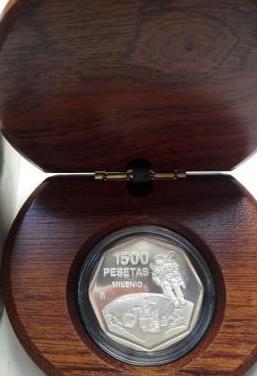 Moneda de plata de 1500 pesetas