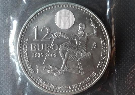 Moneda plata 12 eur 2005