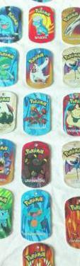 Pokemon metal tags chapas legendario iniciales...