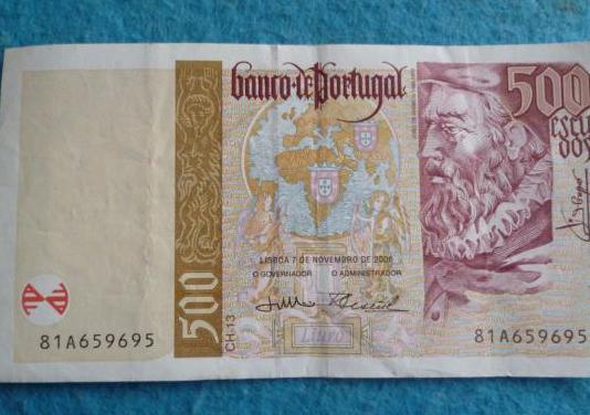 Portugal, billete 500 escudos 2000