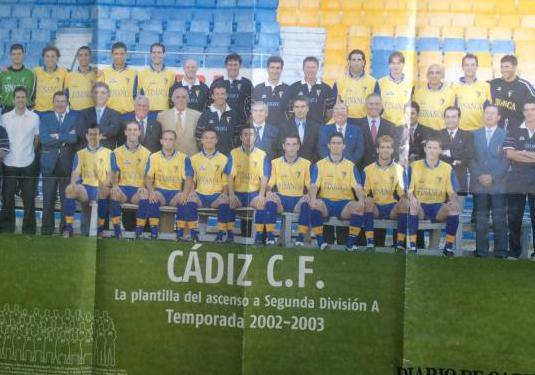 Póster ascenso cádiz 2003