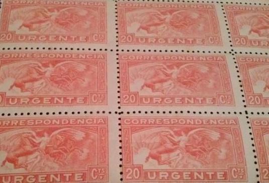 Sello correspondencia urgente-20 centimo