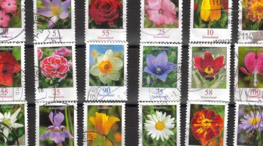 Alemania - 18 sellos de flores
