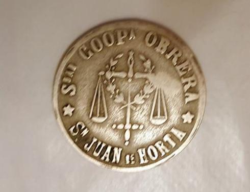 Moneda cooperativa san juan de horta 5 pesetas