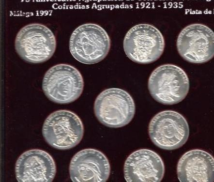 Monedas agrupación cofradias málaga