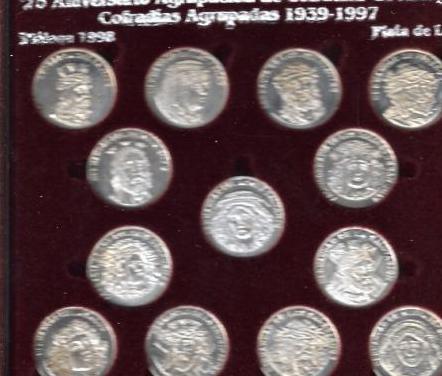 Monedas agrupacion cofradias malaga 1998
