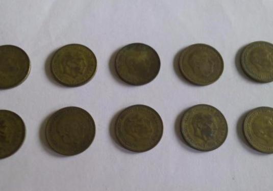 Pesetas franco año 1953 varios años