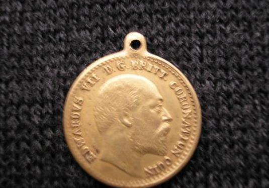Soberano de oro de 1909 medalla de una moneda