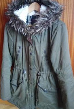 Abrigo capucha mujer