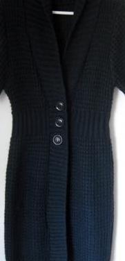 Abrigo de punto en color azul marino.talla:40