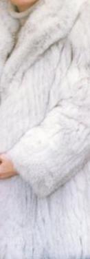 Abrigo piel de zorro blanco