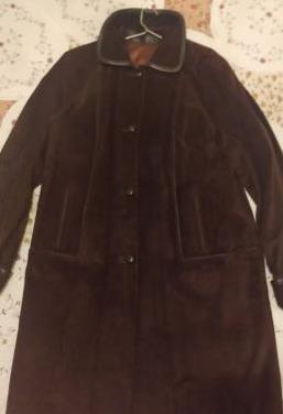 Abrigo piel marrón mujer 44