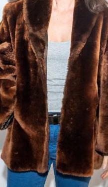 Abrigo piel natural