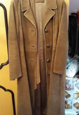 Abrigo vintage de ante color marrón