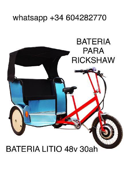 Bateria litio para bicicleta rickshaw 48v 30ah