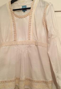 Blusón blanco talla xl