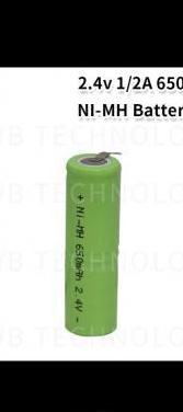 Batería recargable ni-mh, 2.4v 650 mah.