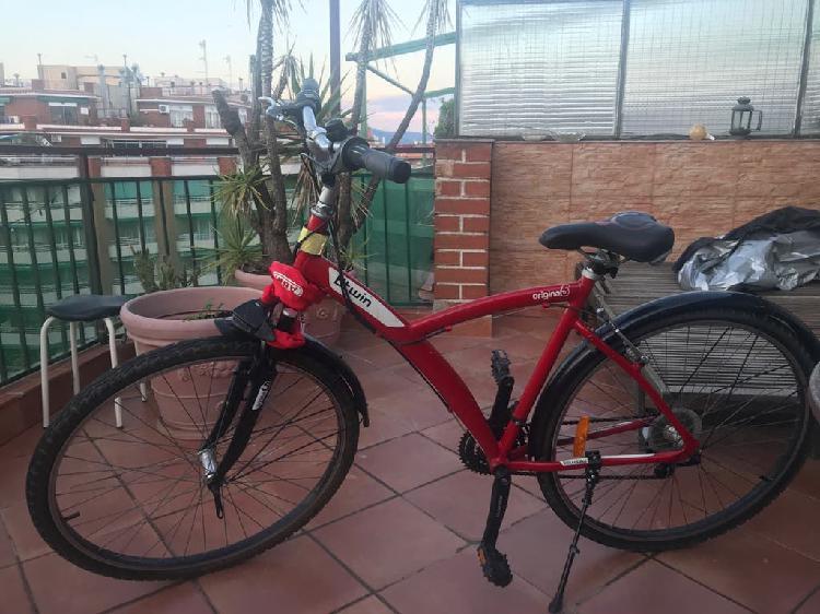 Bicicleta mountain bike roja