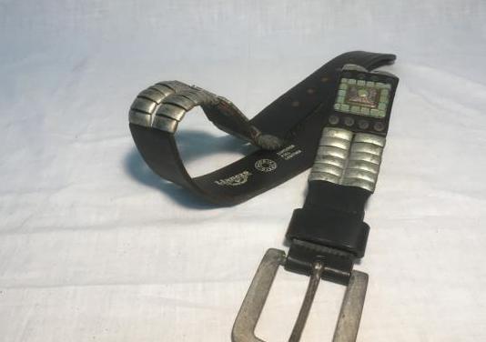 Cinturón llanero, piel genuina, vintage
