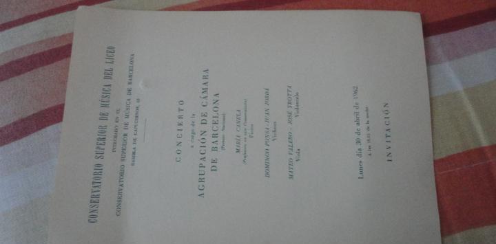 Concierto.conservatorio musica barcelona 1962.maria