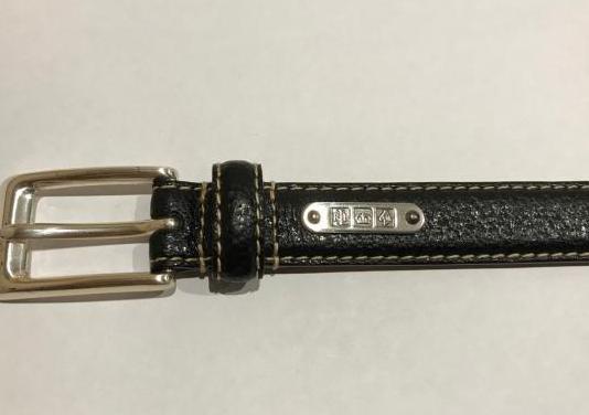 Cinturon negro polo ralph lauren de piel