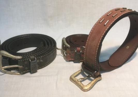 Cinturones lois de piel genuina, vintage