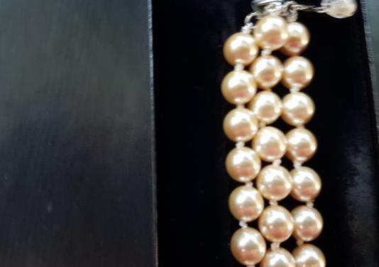 Collar y pulsera perlas al estilo jackie onassis