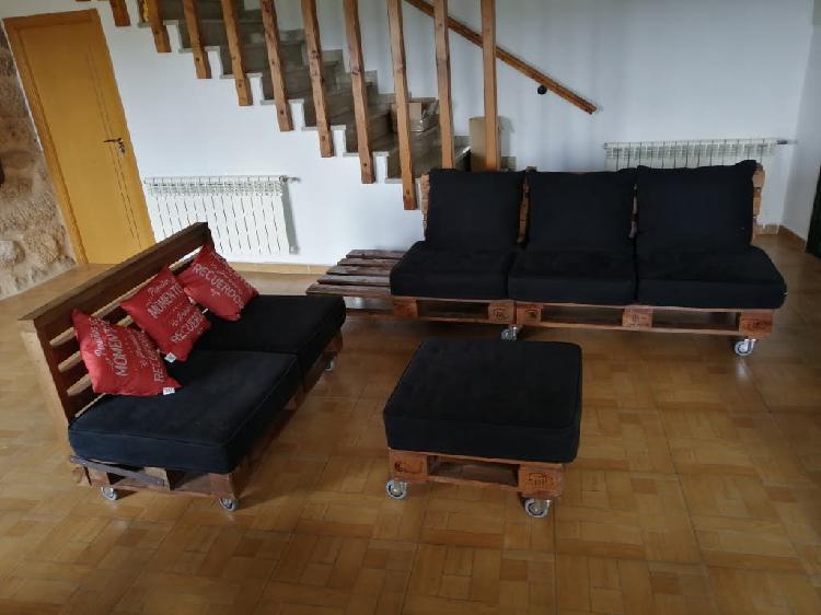 Conjunto de sofás de palets