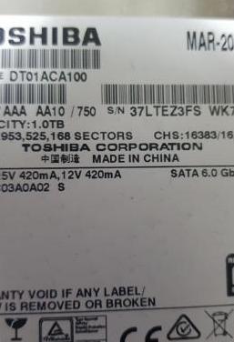Disco duro de 1 tera 3.5