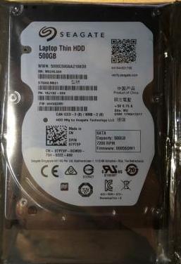 """Disco duro 500 gb sata 7200rpm 2,5"""""""