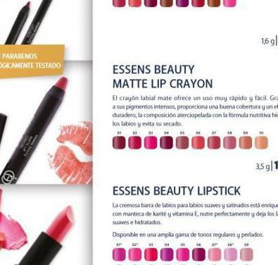 Essens beauty lápiz labial, crayon matte