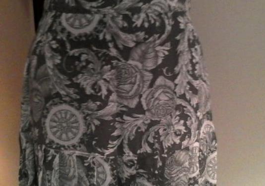 Falda plisada larga t-40
