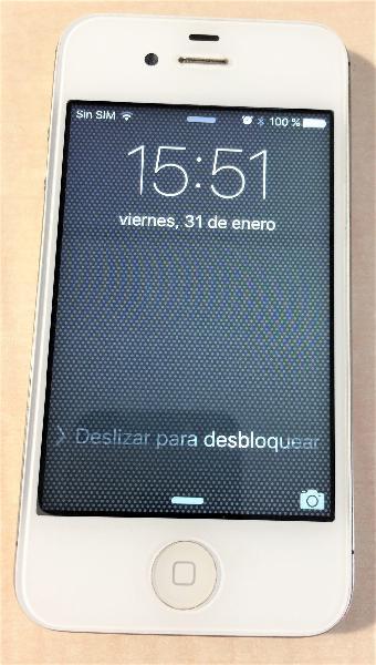 Iphone 4s de 16 gb blanco condicion aaa