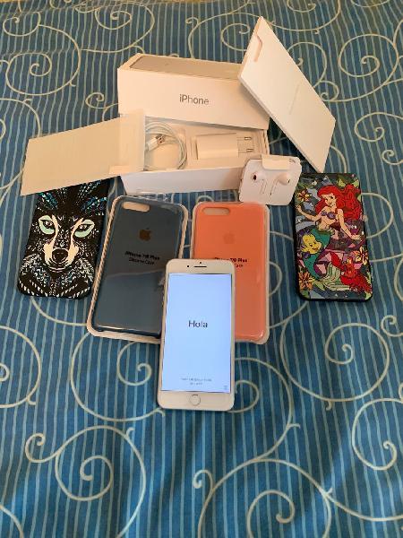 Iphone 7 plus 128gb gris+accesorios urge vender