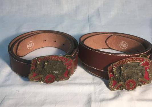 Lote de 2 cinturones piel genuina, vintage